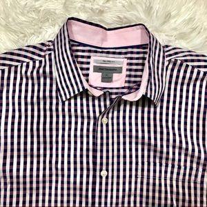 Johnston and Murphy Size XL Gingham Shirt